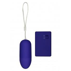 Фиолетовое виброяйцо Funky Remote Egg с дистанционным управлением - 7,5 см.