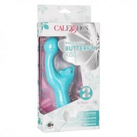 Голубой вибратор-кролик Rechargeable Butterfly Kiss
